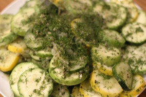 Zucchini Medallions with Ginger and Dill