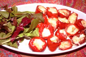 Fireball Cherry Peppers Stuffed With Prosciutto and Brie