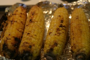 Roasted Corn, Chayote and Black Bean Salad
