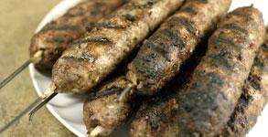 Kafta Kebabs with Tahini Sauce | Choosy Beggars