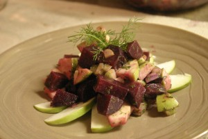 Apple and Roasted Beet Salad