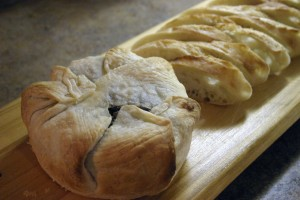 Brie en Croute with Mushroom and Sundried Tomato