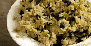 Moros y Cristianos:  Cuban Black Beans and Rice