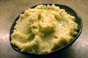 Artichoke and Olive Oil Mashed Potatoes
