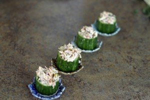 Tarragon Lime Crab And Cucumber Bites
