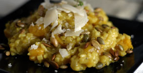 Buttercup Squash Risotto with Toasted Pumpkinseeds