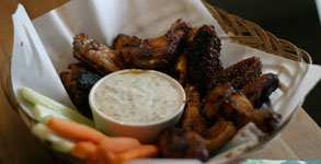 Pub Night:  Sticky Honey Chipotle Chicken Wings