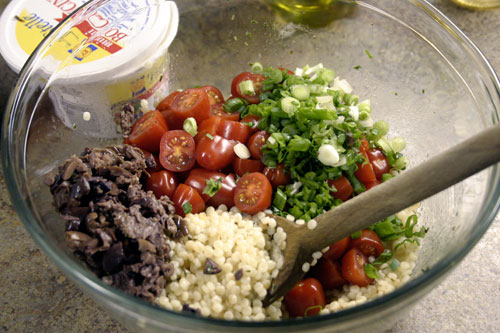 Mediterranean Salad with Israeli Couscous