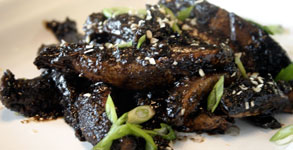 Japanese Portobello Pepper Steak