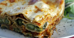 Asparagus and White Bean Lasagna
