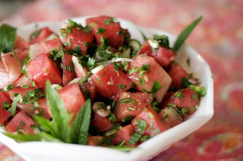 Watermelon & Serrano Chili Salad