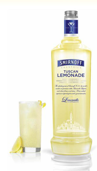 Smirnoff Tuscan Lemonade, as reviewed by Tuscany