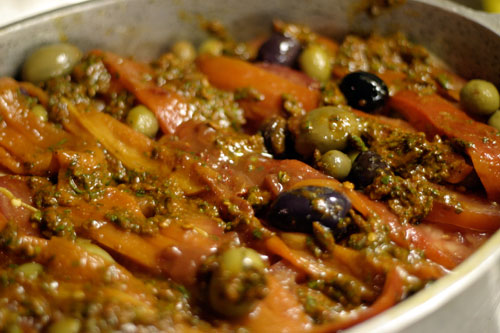 Tagine Bil Hut: Moroccan Fish Stew with Olives, Potatoes and Preserved Lemon