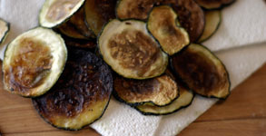 Baked Zucchini Crisps