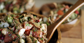 Fattoush:  Lebanese Bread Salad