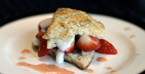 Black Pepper and Honey Strawberry Shortcakes