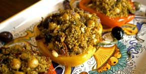 North African Couscous Stuffed Peppers