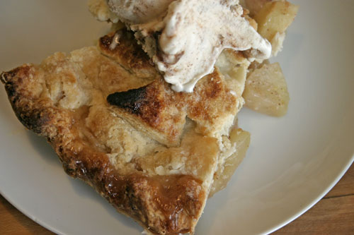 Orange Blossom Scented Apple Pie with Caramel Walnut Ice Cream
