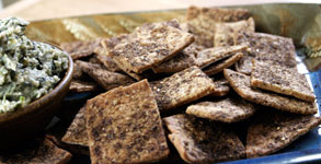 Rustic Whole Wheat Spice Crackers
