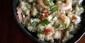 Quinoa with Feta, Shrimp and Fennel