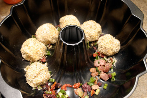 Bocconcini Stuffed Mediterranean Bacon Pull Aparts