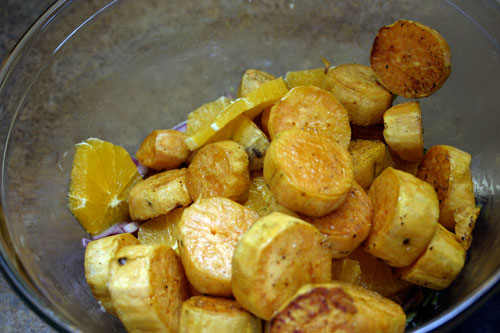 Sweet Potato and Navel Orange Salad