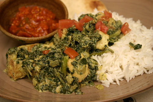 Saag Tofu: Indian Spiced Tofu in Spinach Sauce | Choosy Beggars