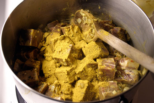 Curried Goat. Yes, Goat.