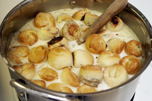 Shish Barak: Yogurt Soup with Meat and Parsley Stuffed Dumplings