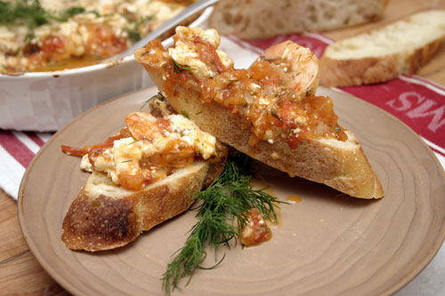 Garides Saganaki: Shrimp with Tomato and Feta