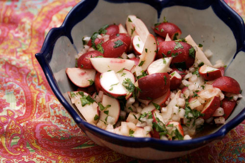 Quick Marinated Radish Salad