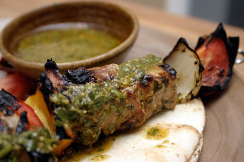 Grilled Chimichurri Pork Skewers