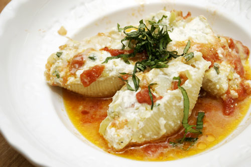 Stuffed Shells with Artichoke and Prosciutto