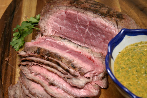 Brazilian Grilled Sirloin with Chimichurri Sauce