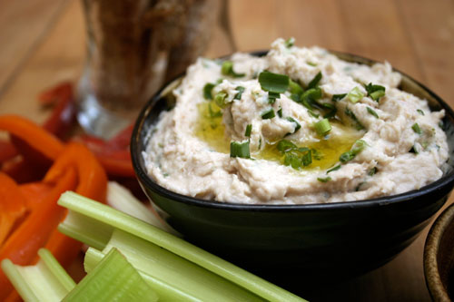 White Bean & Tuna Dip with Garlic Chives