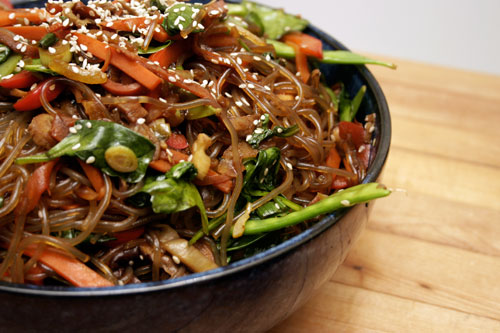 Jap Chae: Korean Stirfried Noodles