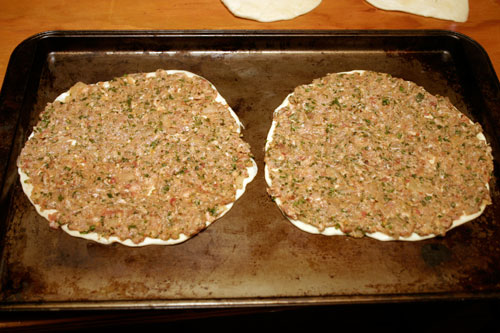 Flatbreads with Spiced Minced Lamb