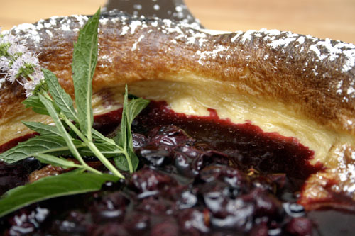 Dutch Baby with Quick Blueberry Sauce