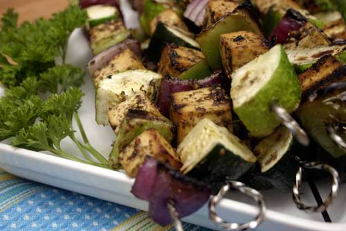 Pomegranate and Zaatar Tofu Kebabs