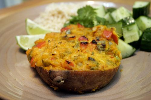 Thai Style Twice Baked Sweet Potatoes