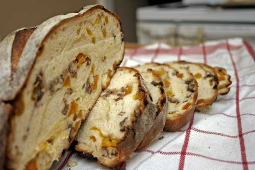 Blue Cheese, Apricot and Pecan Boule