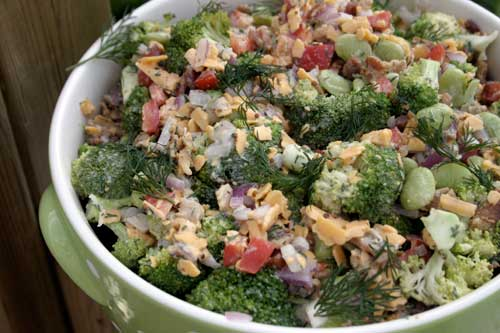 Better Broccoli and Cheese Salad
