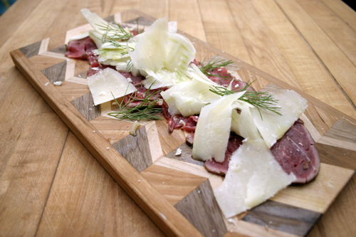 February Kitchen Play Part 1: Seared Beef Carpaccio with Fennel, Parmigiana & Truffle Oil