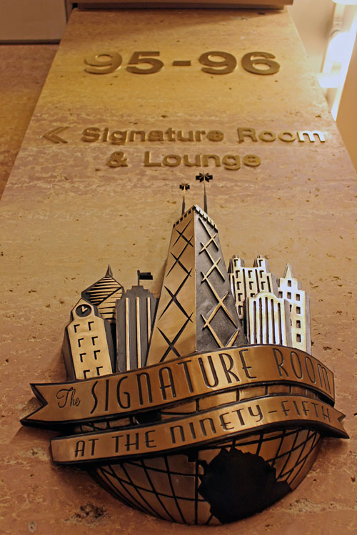 Eating Chicago:  Toasting at the Signature Lounge
