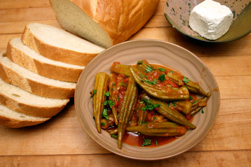 Greek Stewed Okra and Tomato