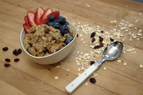 Spiced Whole Grain and Fruit Porridge