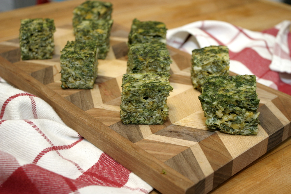 Cheesy Spinach Squares | Choosy Beggars