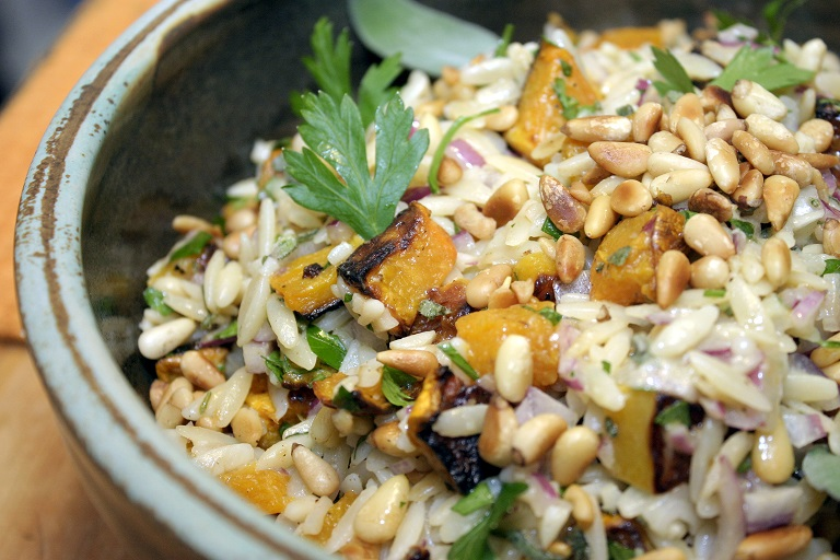 orzo with squash top